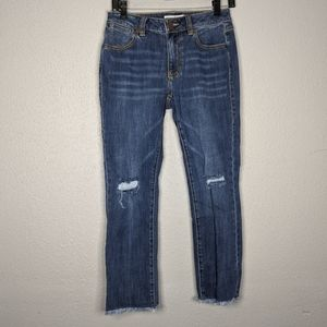 Cropped High Rise Distressed Cabi Jeans